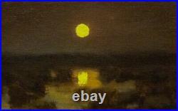 Featured Gold Moon Impressionism Art Oil Painting Landscape Tonalist Realism