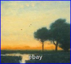 Featured Orange Glow Impressionism Art Oil Painting Landscape Tonalist Realism