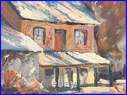 Fine Orig Utah Oil PaintingListed Artist Florence E WareMountain Desert Ranch