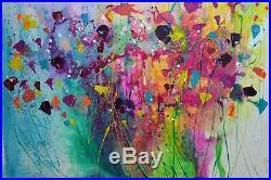 Flower Canvas Art Abstract Original Artwork By Caroline Ashwood Floral Painting