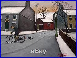 Follow Me 1 Original Northern Art Oil Painting on Canvas COSA