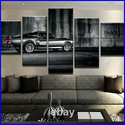 Ford Mustang Eleanor Car 5 Pieces canvas Wall Art Picture Poster Home Decor