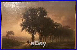 Frederick D. Williams (1829-1915) Tonalist Landscape with Horse 1863 Oil on Canvas
