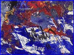Gino Hollander ORIGINAL signed 2011 acrylic on canvas 23x20 unframed