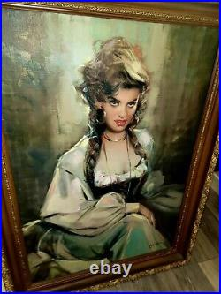 Giordano Giovanetti Signed Italian Oil Painting X-large
