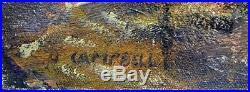 HUGH CAMPBELL Original Oil On Canvas Rancocas Creek From Pine St Bridge NJ