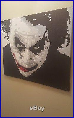 Heath Ledger Joker Batman Dark Knight Original Drawn Art 1 of 1 on 24x30 Canvas