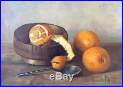 Henk Bos (1901-1979) Original Painting on Canvas'Oranges', 1960, Schwartz Gal