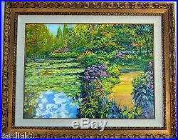 Howard Behrens ORIGINAL Art Oil on Canvas painting Tribute to Monet GIVERNY PATH
