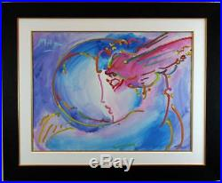 I LOVE THE WORLD by PETER MAX ORIGINAL ACRYLIC ON CANVAS PAINTING RETAIL $70,000