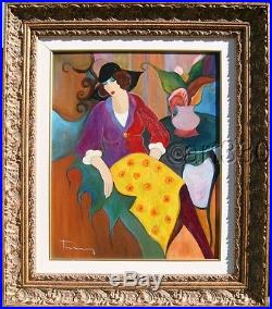 ITZCHAK TARKAY, original oil painting on canvas, hand signed, framed