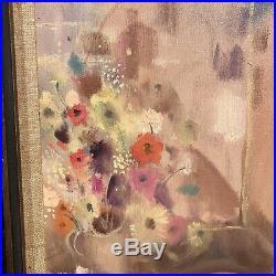 Igor Pantuhoff Big Eyed Girl Original Oil Painting On Canvas NUDE