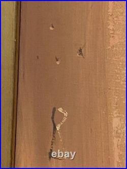 Igor Pantuhoff Original Oil on Canvas Painting MCM Big Eyes 17x36 Framed