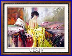 Impressionistic Large Painting on Canvas Pino Inspired Colorful Original Art