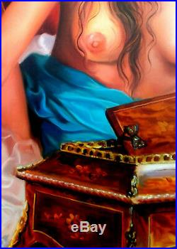 Italian Painting Artistic Nude Original Oil Canvas Francesco Pezzella Italy Art
