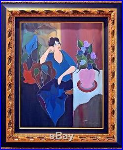 Itzchak Tarkay Admiration Original Acrylic on Canvas