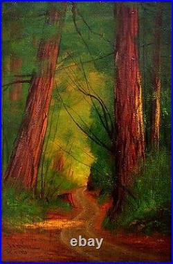 JAMES EVERETT STUART Signed 1920 Original Oil Painting LISTED
