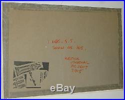 JON WHITCOMB ORIGINAL ILLUSTRATION ART SIGNED PAINTING MOVIE STARS 22x15 CANVAS