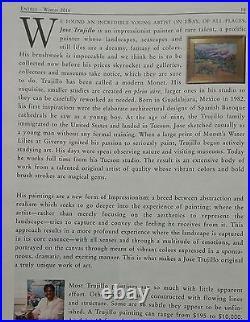JOSE TRUJILLO Framed ORIGINAL Oil Painting Abstract Lake Green Impressionist Art