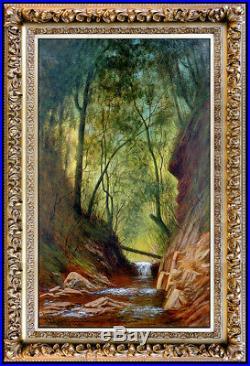 James Everett Stuart Original Oil Painting On Canvas Large Landscape Signed Art