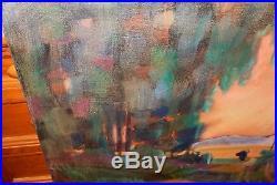 James Hartman Half Moon By Flower Farm Huge Original Oil On Canvas Painting