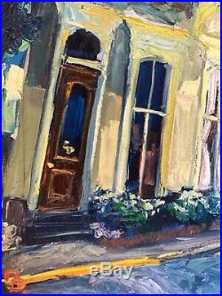 James Michalopoulos Original Oil Painting Twice Thrown On Canvas Signed