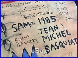 Jean Michel Basquiat LARGE Painting Original 1985- Evens Gallery Stamp