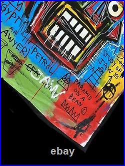 Jean Michel Basquiat LARGE Painting Original-King Bronco- New York Gallery