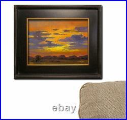 Jeff Love Art Original Oil Painting Bright Clouds Sunset Southwestern Landscape