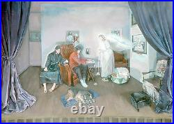 Jesus Cheers McCartney with Lambchop- BEATLES -ART-ORIGINAL-PAINTING- Kata Billups