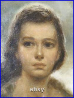 Joe King aka Vinciata Original Oil Painting Young Mother 1957 Very Large