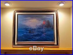 John Pitre ORIGINAL ART North Swell Rising aka Sea Warriors OIL ON CANVAS