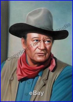 John Wayne Western Original Hand Painted Poster Oil Painting on Canvas Artwork