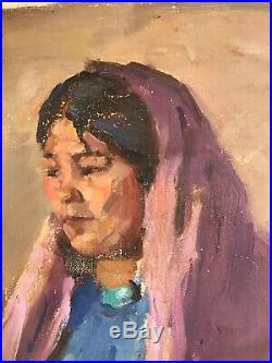 Joseph Henry Sharp Oil On Linen, Original Painting, Native American portraits