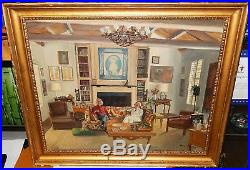 Julian Barrow Yorkshire Mansion Original Oil On Canvas Painting 1978 Listed Art