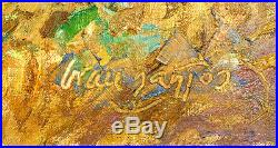 Julian Grau Santos Large Original Oil Painting on Canvas Signed Landscape Art