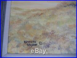 Kenneth Wyatt Original Western Oil Painting on Canvas, Signed, framed 33 x 45