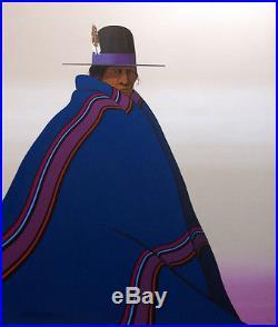 Kim Means Blue Blanket Original Oil on Canvas Hand Signed Authentic Fine Art