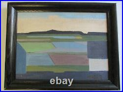 Knud Horup Abstract MID Century Modern Painting Expressionist 1960's Landscape