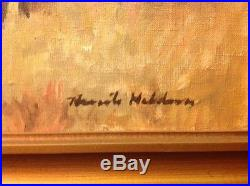 Knute Heldner Original Antique Oil Painting on Canvas