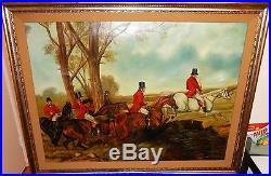 Kubik Fox Hunting Scene Huge Original Oil On Canvas Painting