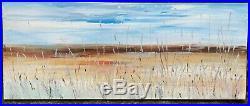 LARGE ORIGINAL LANDSCAPE ART ABSTRACT MODERN ACRYLIC PAINTING 100x40cm canvas