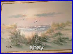 LARGE ORIGINAL PAINTING BY ANTONIO SEASCAPE/OCEAN SCENE 42X54 with frame