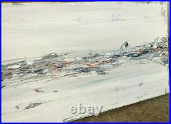 LARGE ORIGINAL TEXTURED SEASCAPE ART ABSTRACT MODERN PAINTING 100x40cm canvas