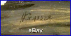 LISTED AMERICAN HENRY GASSER MODERNIST LANDSCAPE ORIGINAL OIL on CANVAS N/R
