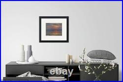 Lake sunset waterscape, Original artwork oil painting, landscape 11''x14