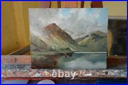 Landscape Oil painting Scottish Highlands after Alfred de breanski by j payne