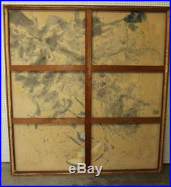 Large Abstract Original Oil on canvas Paul Franklin Modern Art Vintage Franko
