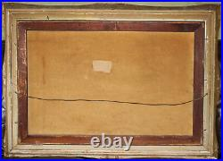 Large Antique Vintage Oil on Canvas, Impressionism Painting in original frame