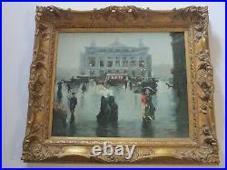 Large Finest Tibor Tasnadi Painting Masterful French France Paris Cafe Portrait